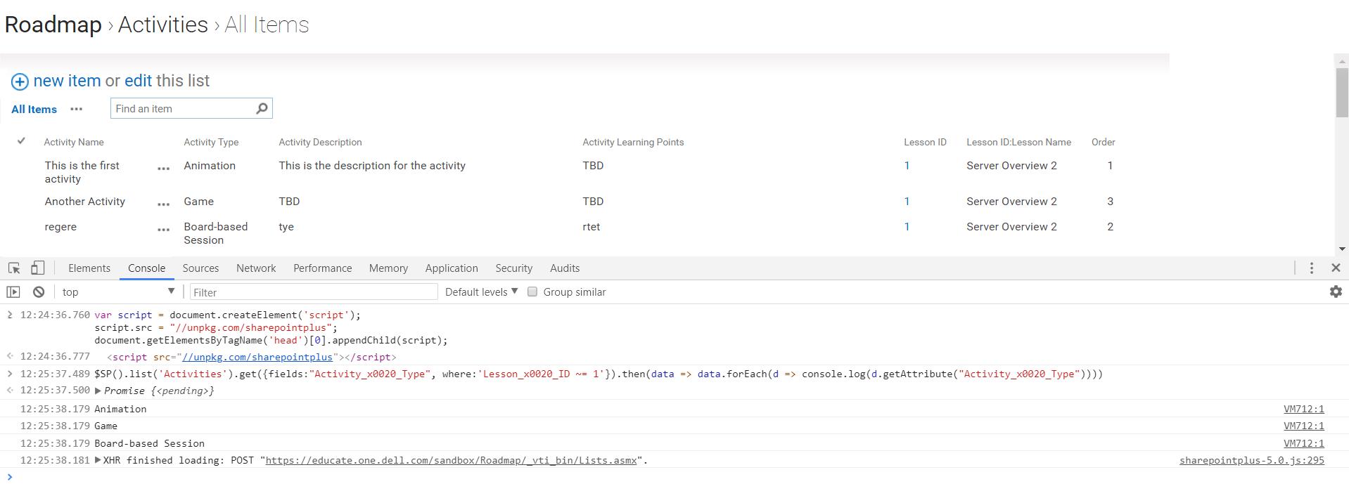 SharepointPlus :: JavaScript API for Sharepoint